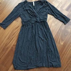 ModCloth Gilli Flattering Gray dress